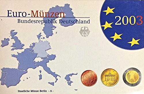 DE 2003 Germany 2003 D Official Euro Coins Set Berlin Min Good