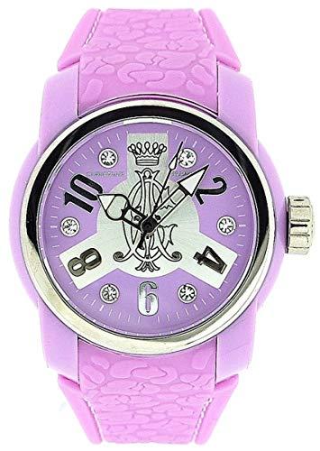 Christian Audigier Vortex Ladies Analogue Lilac Rubber Strap Watch INT-321