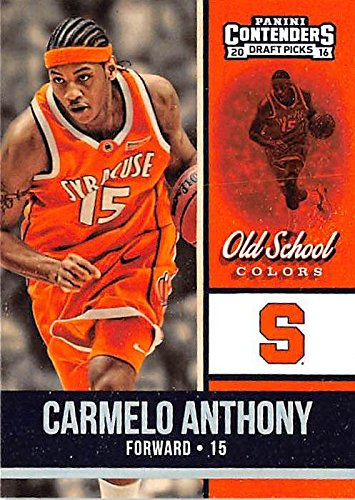 - Carmelo Anthony basketball card (University of Syracuse Orange) 2016 Contenders Draft Picks #4 Old School Colors