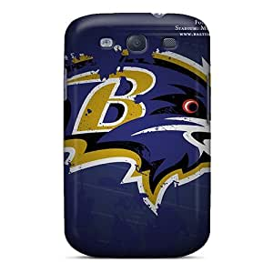 High-end Case Cover Protector For Galaxy S3(baltimore Ravens)