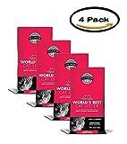 PACK OF 4 - World's Best Cat Litter WB00626 Natural Multiple Cat Litter Clumping Formula, 7 lb, Bag
