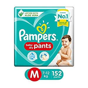 Pampers New Diaper Pants Monthly Box Pack, Medium, 152 Count