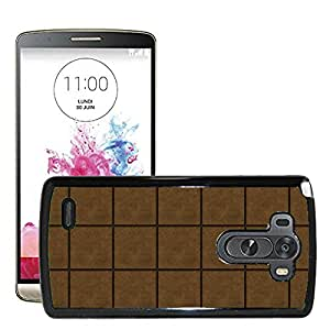 Hot Style Cell Phone PC Hard Case Cover // M00152392 Texture Brown Gum Background Squared // LG G3 VS985
