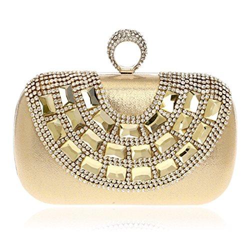 KERVINFENDRIYUN Gold Diamond Bag Women Red Wedding Color Purse Party Clutch Luxury Handbag rq1xC6Pwr