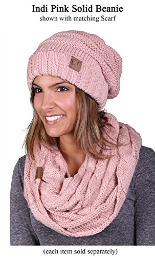 Review Funky Junque H-6100-71 Oversized Beanie – Indi Pink