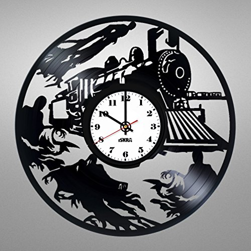 [Vinyl Record Wall Clock for fans of Wizards and magic world - Get unique kids room wall decor - Gift ideas for boys and girls, teens, friends – Unique Art Design of Magic] (Costume Party Ideas Movie Characters)