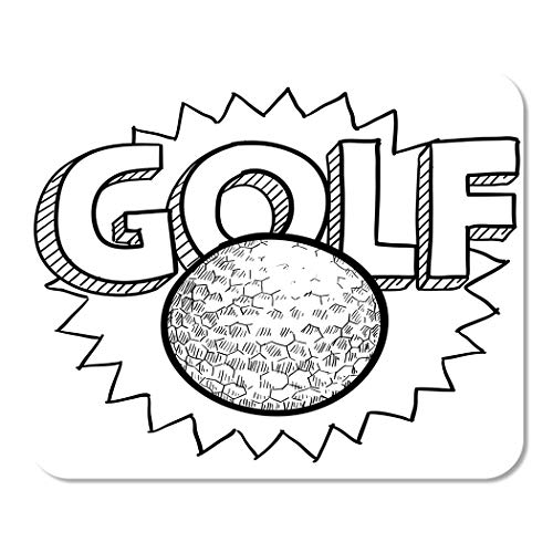 (Suike Mousepad Computer Notepad Office Drawing Doodle Style Golf in Includes Text and Ball Birdie Bunker Champion Club Home School Game Player Computer Worker 9.5x7.9 Inch)