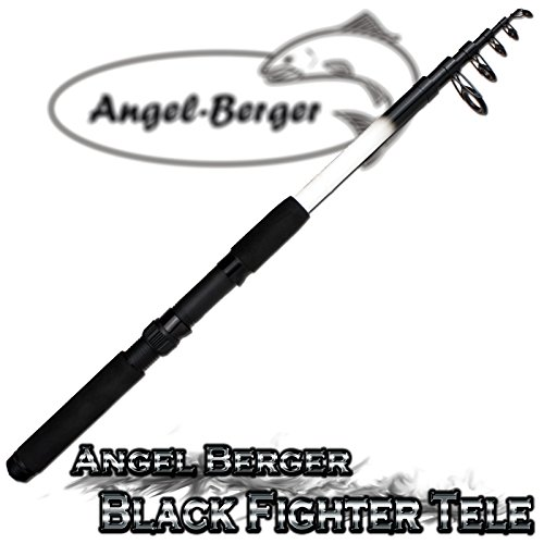 Angel Berger Black Fighter Tele Teleskoprute Spinnrute (2.10m)