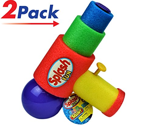 Foam Water Gun (Pack of 2) by JA-RU | Squirt Splash Soak Toy | Item #891-2 (Gun Splash)