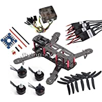 powerday®Replacement QAV250 DIY Quadcopter Kit   carbon frame kit & Emax MT1806 Brushless Motor & Simonk 12A ESC & CC3D Flight Controller &50303-blade Propeller