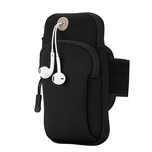 Multifunctional Outdoor Sports Armband Sweatproof Running Armbag Casual Arm Package Bag Gym Fitness Cell Phone Bag Key Holder for iPhone X 8 7Plus 6sPlus Samsung Galaxy Note 5 4 S8 S7 Edge Plus from WELLMON