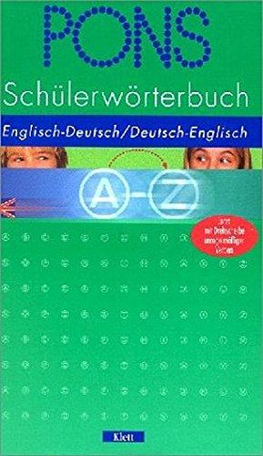 PONS Schülerwörterbuch Englisch. Englisch - Deutsch / Deutsch - Englisch (Englisch) Gebundenes Buch – 1. März 2003 Erich Weis Klett 3125171296 MAK_GD_9783125171299