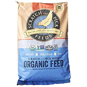 Scratch and Peck Feeds - Naturally Free Organic Layer Feed for Chickens and Ducks - Non-GMO Project Verified, Soy Free and Corn Free - 25-lbs 1