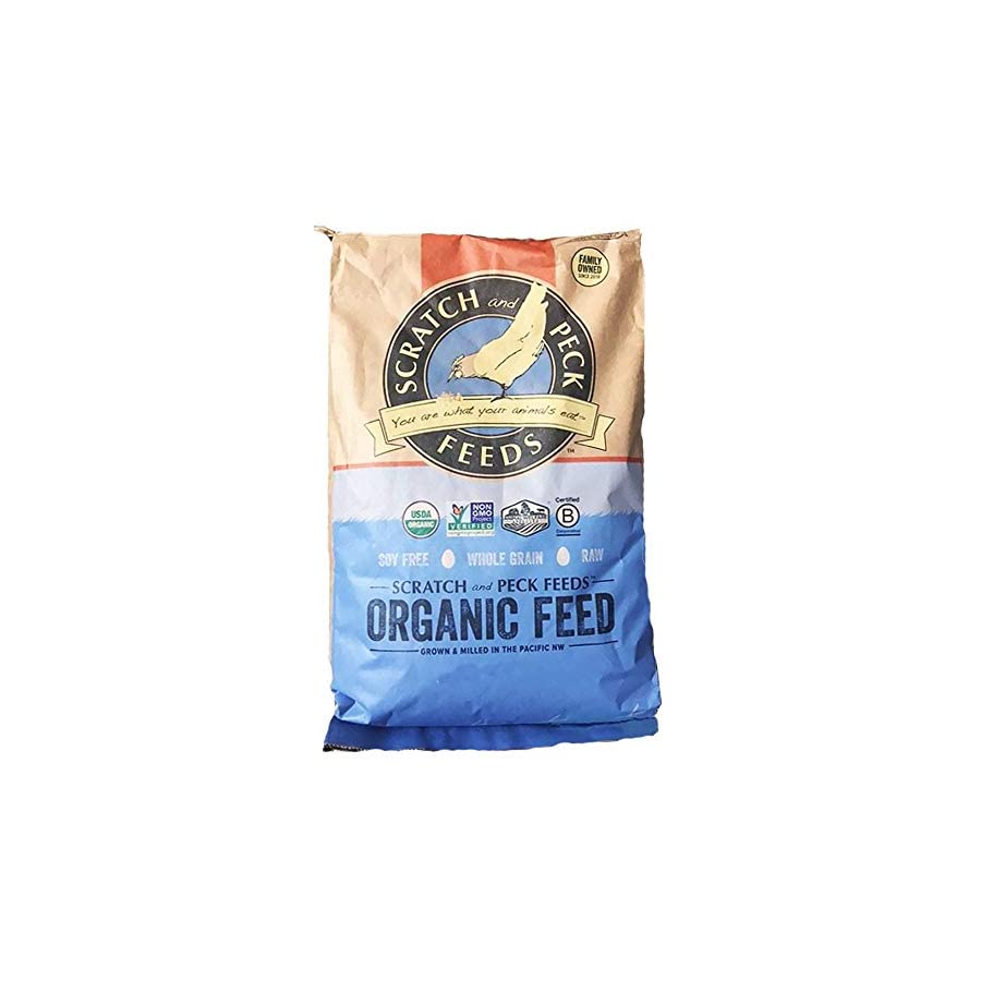Scratch and Peck Feeds - Naturally Free Organic Layer Feed for Chickens and Ducks - Non-GMO Project Verified, Soy Free and Corn Free - 25-lbs 2
