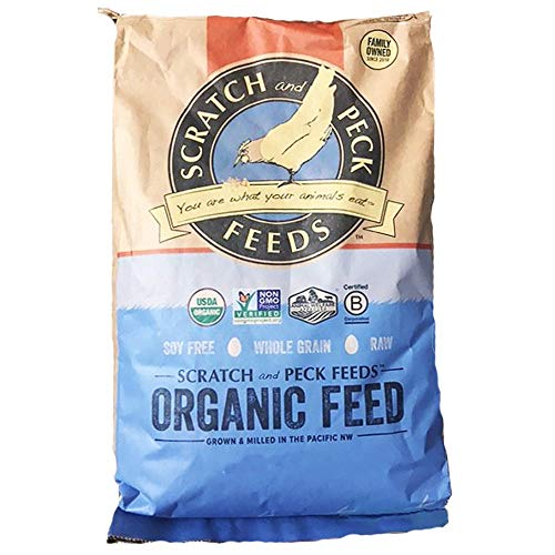 - Scratch and Peck Feeds - Naturally Free Organic Layer Feed for Chickens and Ducks - Non-GMO Project Verified, Soy Free and Corn Free - 25-lbs
