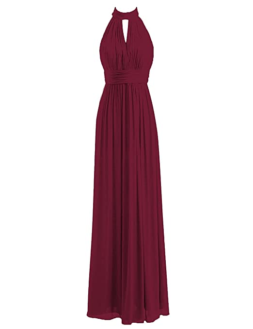 Review JAEDEN Bridesmaid Dress Halter