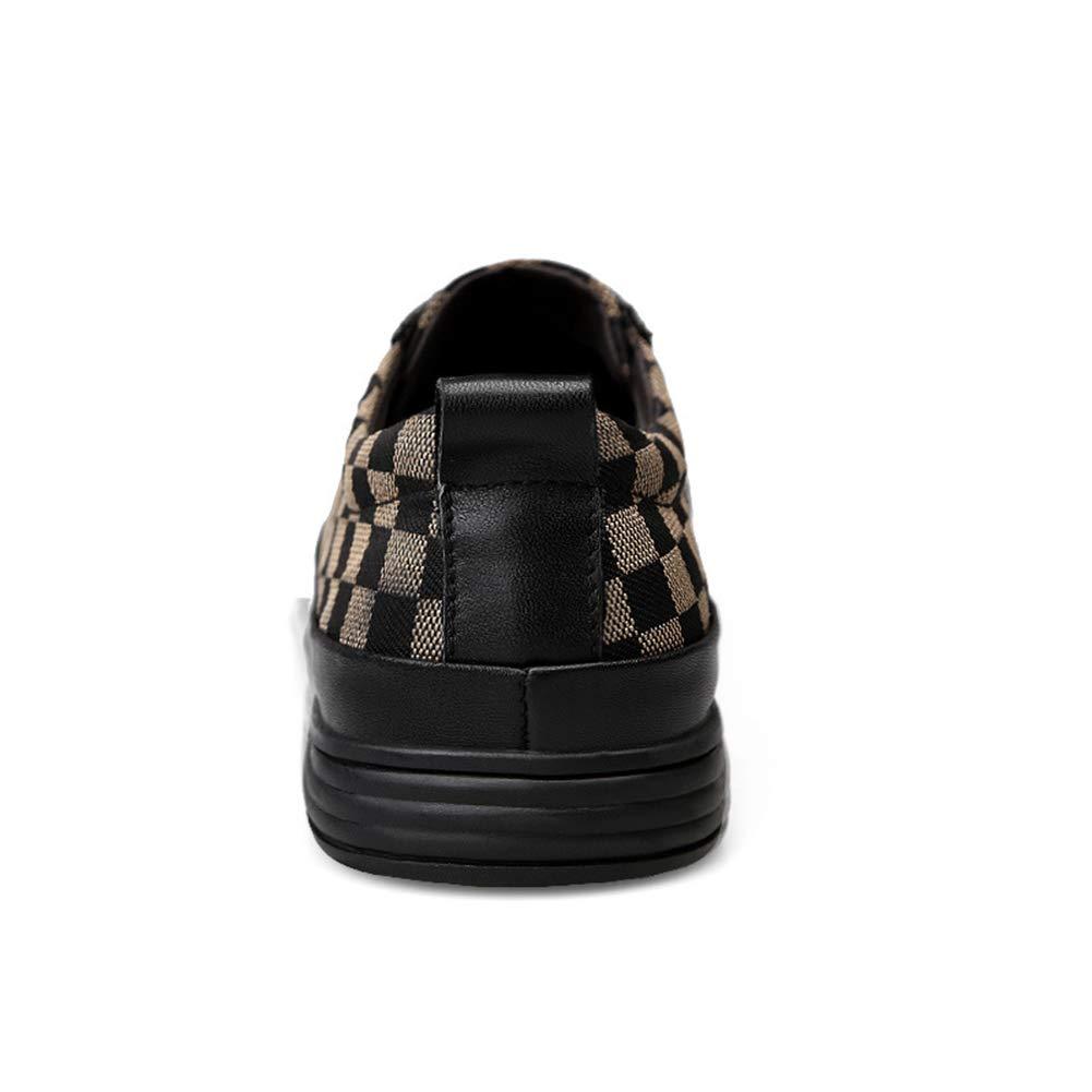 Men es Casual schuhe Spring & Fall Fashion Fashion Fashion Leder Toe Cap Cap Up Casual schuhe Low-top Turnschuhe Training schuhe Office & Career,D,39  6241d5