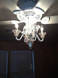 Amazon.com: Pull Chain Crystal Bead Candelabra Ceiling Fan