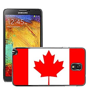 GoGoMobile Slim Protector Hard Shell Cover Case // V00001029 canada National Country Flag // Samsung Galaxy Note 3 III N9000 N9002 N9005