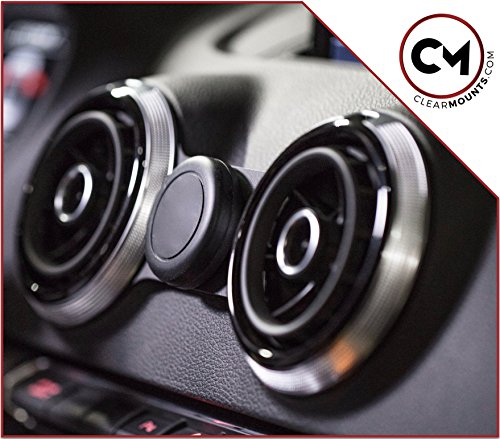 CLEARMOUNTS Audi Phone Holder - Designed for: 2013-2020 Audi A3, S3, RS3, e- Tron (8V) - Our Exclusive Low-Profile Magnetic Mount