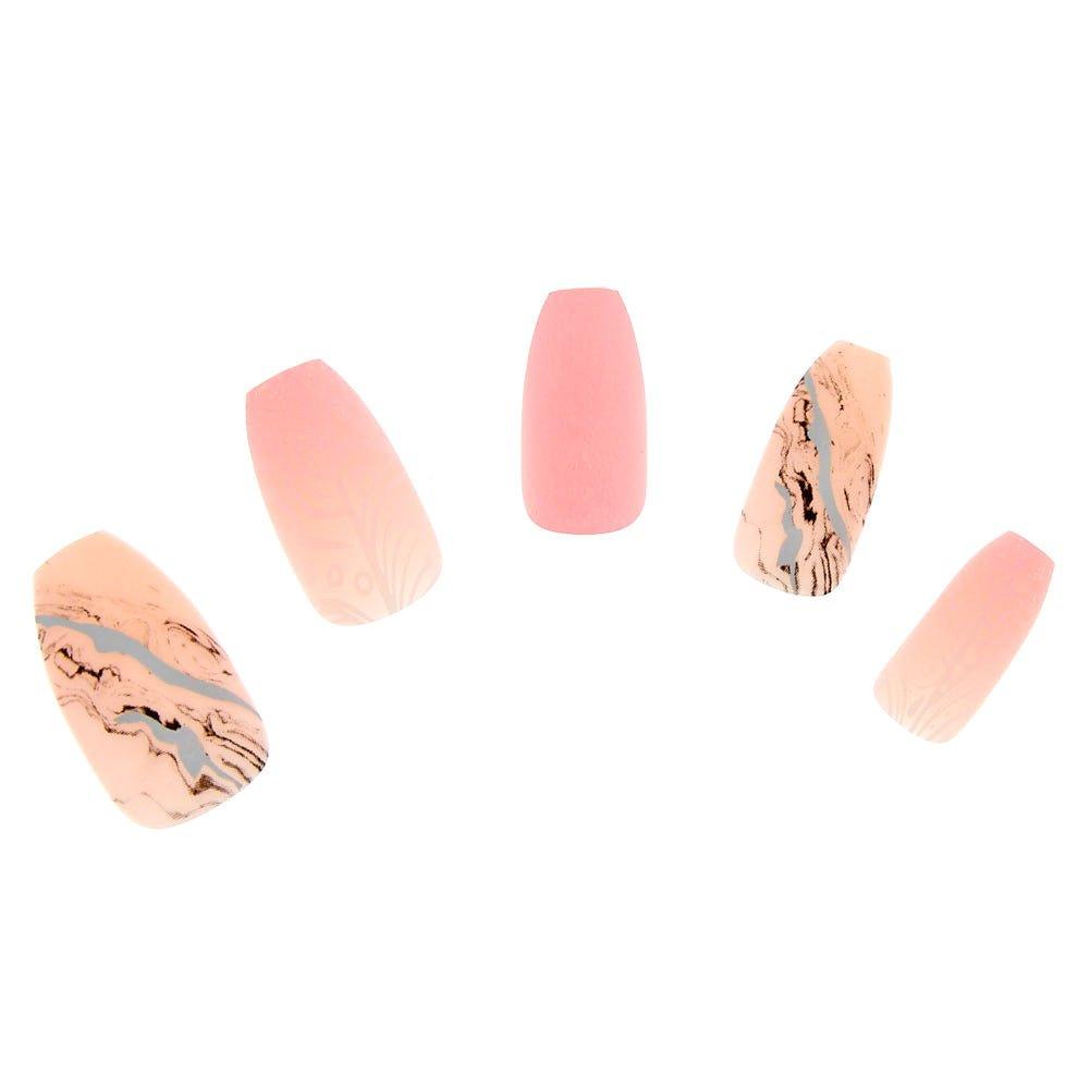 Amazon.com: Claire s Girl s ataúd de mármol uñas postizas ...