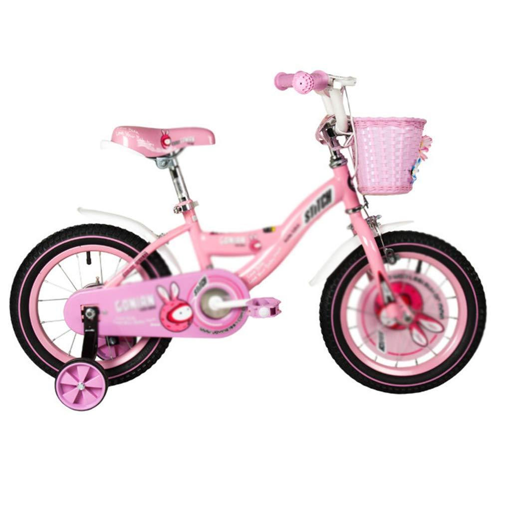 Bici per bambini Passeggino per Bicicletta da Bambino 14 14 16 inch Girl Princess Vernice ecocompatibile (Colore   rosa, Dimensione   16inch)