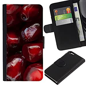 iKiki Tech / Cartera Funda Carcasa - Pomegranate Red Fruit Juicy Tasty - Apple iPhone 6 4.7