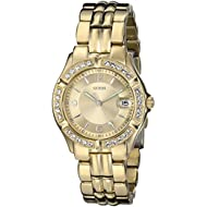 Women's Stainless Steel Crystal Accented Watch, Color: Gold-Tone (Model: U85110L1)