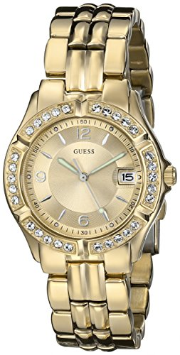 GUESS Womens U85110L1 Dazzling Sporty Mid-Size Gold-Tone Watch