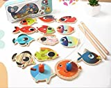 Agooding Magnetic Fishing Playset with 14 Fishes and 2 Poles