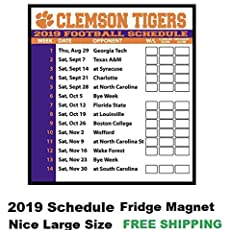 Clemson football schedule for 2019