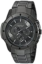 Bulova Men's Quartz Stainless Steel Casual Watch, Color:Black (Model: 45A139)