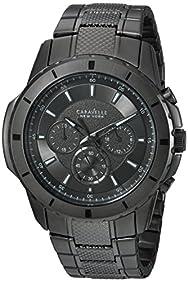 Bulova Men's Quartz Stainless Steel Casual Watch, Color:Black (Model: 45A139)