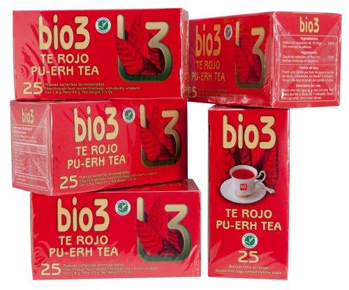 Pu-erh Tea: Organic Red Tea pack of 5