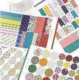ONOR-Tech 4 Sheets Lovely Decorative Adhesive Sticker Tape / Washi Masking Sticker Tape Set