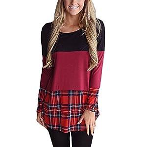 Twippo Women's Long Sleeve Shirt Tunic Blouse Top