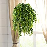 HOGADO 2pcs Artificial Hanging Ferns Plant Fake