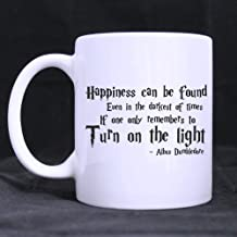 Custom Harry Potter Coffee Mug, Happiness can be found even in the darkest of times if one only remembers to turn on the light