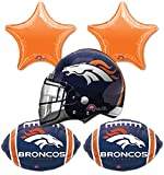 Anagram Bouquet Broncos Foil Balloons, Multicolor