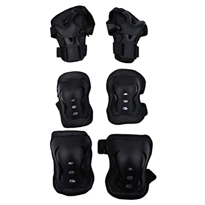 Dilwe Child Safety Pad, 6pcs/Set Elbow Knee Support Pads Child Sports Protective Gear for Outdoor Sports(Black) : Sports & Outdoors