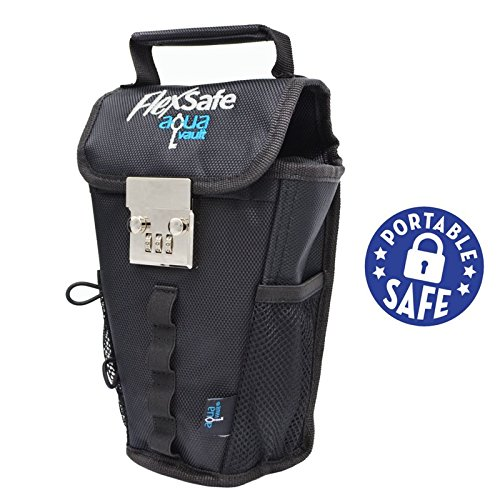 FlexSafe by AquaVault- Anti-Theft Portable Safe, Packable Travel Vault, Outdoor LockBox. As Seen On Shark Tank