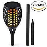 AICEDA Solar Lights,Waterproof Flickering Flames Torches Lights,Outdoor Landscape Torch Light,Dancing Flame Lighting,LED Flickering Tiki Torches Light for Garden Patio Deck Yard Driveway(Pack of 2)