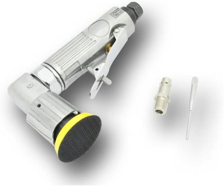 Nishore Mini Exzenterschleifer 50mm 15.000U//min 1//4 Druckluft-Exzenterschleifer Druckluftschleifer Druckluft Schleifger/ät Schleifer 190 x 91 x 44 mm