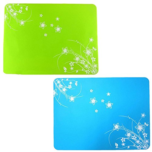 "Lesirit Waterproof and Non-slip Silicone Kids Placemat,15.7"" By11.8"" , Pack of 2 (G)"