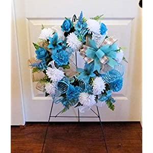 Summer Cemetery Wreath, Father's Day Cemetery Wreath, Summer Grave Wreath 5