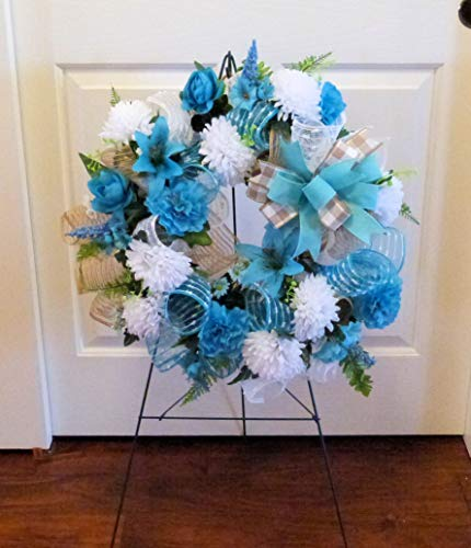 Summer-Cemetery-Wreath-Fathers-Day-Cemetery-Wreath-Summer-Grave-Wreath