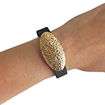Charm to Accessorize the Fitbit Flex and Other Fitness Trackers - The ANGELINA Charm in Gold or Silver to Dress Up Your Favorite Fitness Tracker (Gold, Garmin Vivofit)