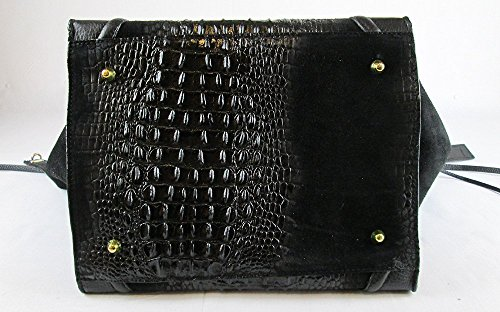 Borsa vera pelle Made in italy genuine leather FG Celin crocodile