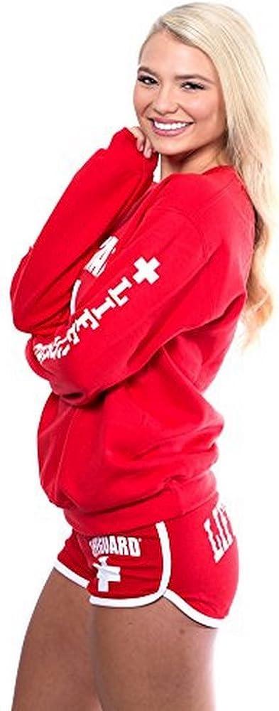 Teenager M/ädchen LIFEGUARD Lifeguro Sweatshirt mit Rundhalsausschnitt Damen f/ür Damen Rot