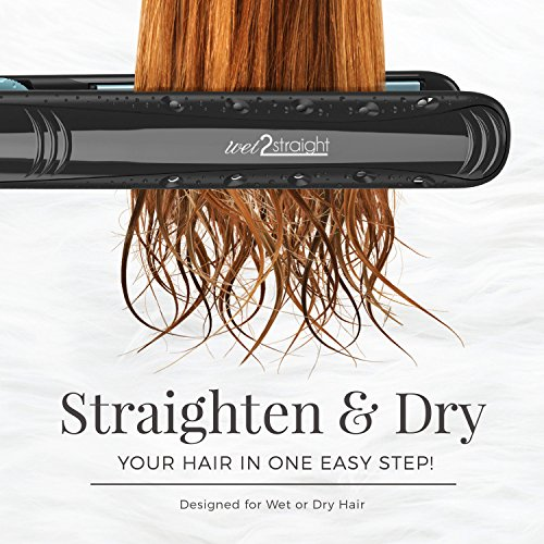 Remington S7310 Wet 2 Straight Hair Straightener, 1-Inch, Black Hair Straightener